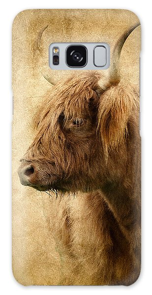 Highland Bull Galaxy Case by Athena Mckinzie