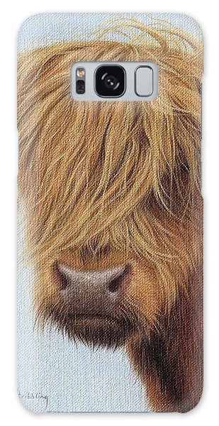 Highland Cow Painting Galaxy Case