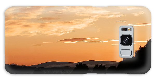 Highland Sunset Galaxy Case by Carolyn Cable