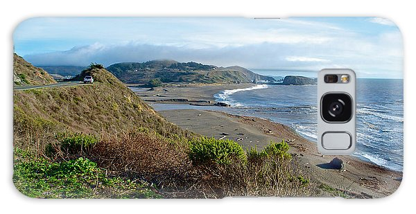 Highway 1 Near Outlet Of Russian River Into Pacific Ocean Near Jenner-ca  Galaxy Case