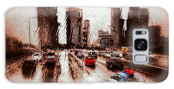 Galaxy Case featuring the photograph Highway City by Yen