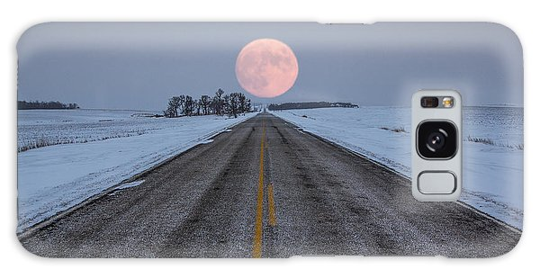 Highway To The Moon Galaxy Case by Aaron J Groen