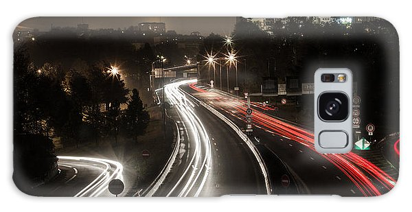 Galaxy Case featuring the photograph Highway's Lights by Stwayne Keubrick
