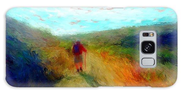 Hiker On Path Galaxy Case by Gerhardt Isringhaus