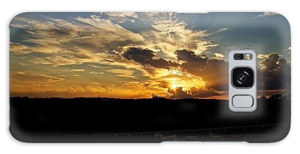 Hill Country Sunset Galaxy Case