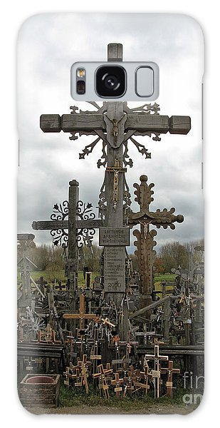 Hill Of Crosses 06. Lithuania.  Galaxy Case by Ausra Huntington nee Paulauskaite