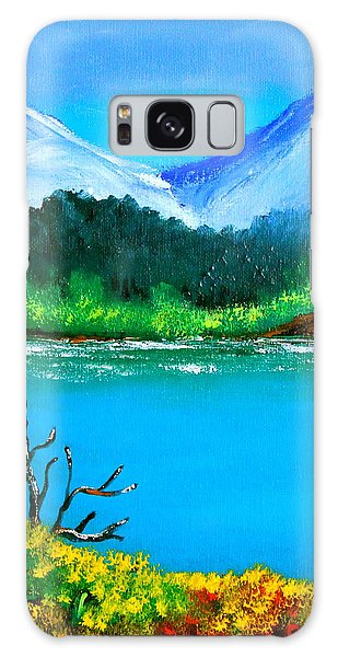 Hills By The Lake Galaxy Case