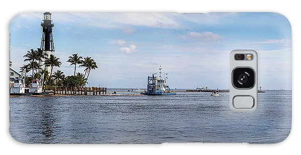 Hillsboro Inlet Lighthouse Panorama Galaxy Case by Lynn Palmer