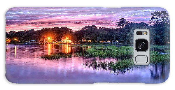 Hilton Head Evening Marsh Galaxy Case