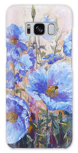 Himalayan Blue Poppies Galaxy Case