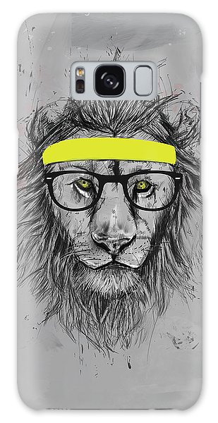 Lion Galaxy Case - Hipster Lion by Balazs Solti