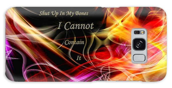 His Word In My Heart Galaxy Case by Margie Chapman