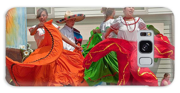 Hispanic Women Dancing In Colorful Skirts Art Prints Galaxy Case by Valerie Garner