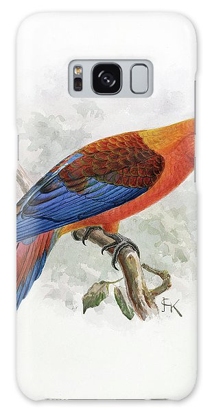 Macaw Galaxy Case - Hispaniolan Macaw by Natural History Museum, London/science Photo Library