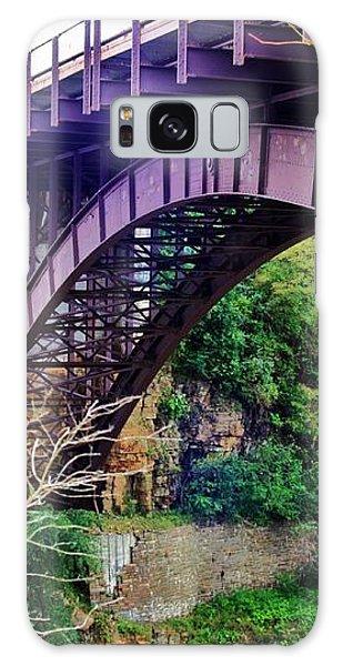 Historic Ausable Chasm Bridge Galaxy Case by Patti Whitten