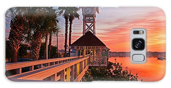 Historic Bridge Street Pier Sunrise Galaxy Case