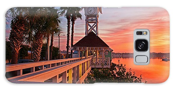Historic Bridge Street Pier Sunrise Galaxy Case by HH Photography of Florida