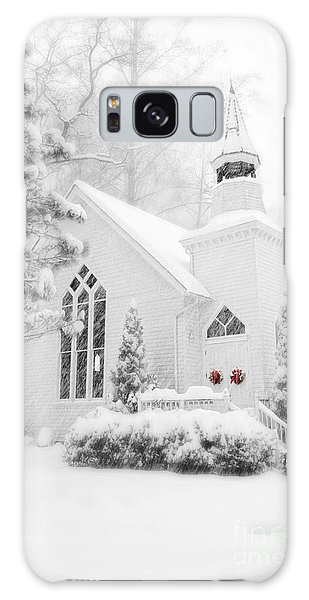 White Christmas In Oella Maryland Usa Galaxy Case