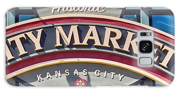 Historic City Market Sign  Galaxy Case