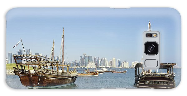 Historic Dhows And Doha Skyline Galaxy Case