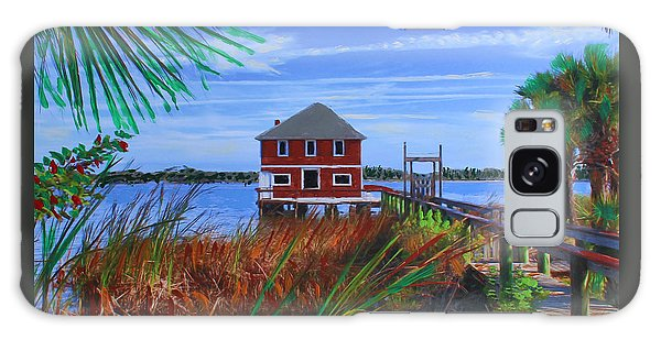 Galaxy Case featuring the mixed media Historic Ormond Boathouse by Deborah Boyd