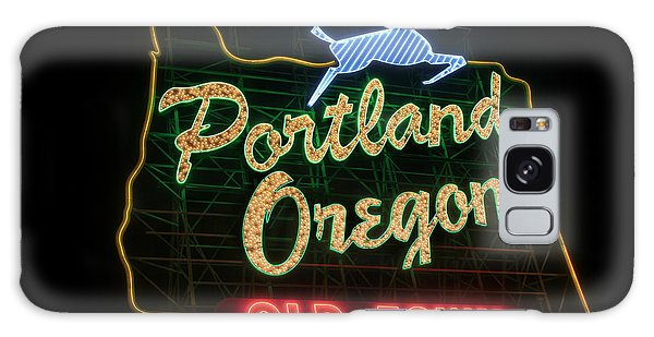 Historic Portland Oregon Old Town Sign Galaxy Case