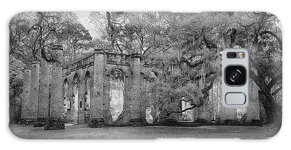 Historic Sheldon Church 6 Bw Galaxy Case by Carrie Cranwill
