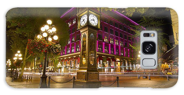 Historic Steam Clock In Gastown Vancouver Bc Galaxy Case by Jit Lim