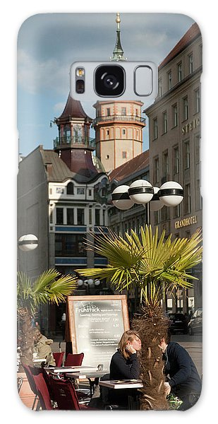 Street Cafe Galaxy Case - Historic Towers In The Heart by Dave Bartruff