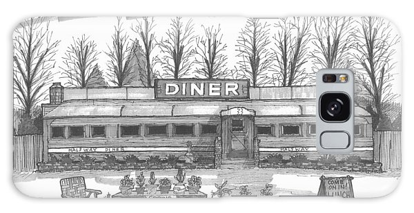 Historic Village Diner Galaxy Case