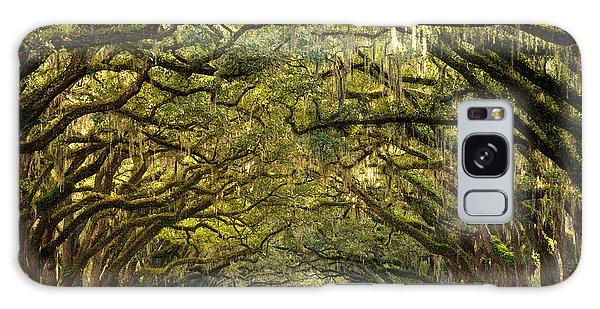 Historic Wormsloe Plantation Oak Trees Galaxy Case by Serge Skiba