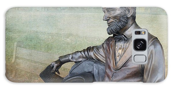History - Abraham Lincoln Contemplates -  Luther Fine Art Galaxy Case