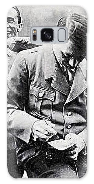 Hitler And Goebbels  As The German Chancellor Signs An Autograph  Galaxy Case