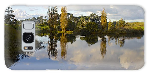 Autumn At Hobbiton Lake New Zealand Galaxy Case by Venetia Featherstone-Witty
