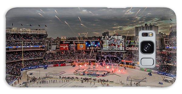 Yankee Stadium Galaxy S8 Case - Hockey At Yankee Stadium by David Rucker