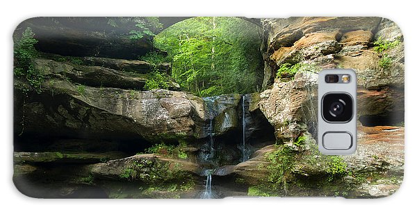 Hocking Hills Waterfall 1 Galaxy Case