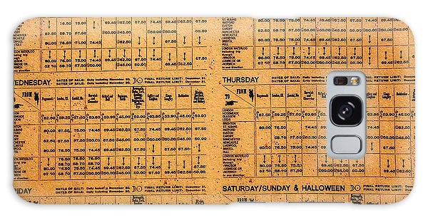 Hogsmeade Station Timetable Galaxy Case by David Lee Thompson