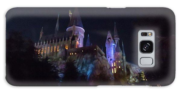 Hogwarts Castle In Lights Galaxy Case by Kathy Long