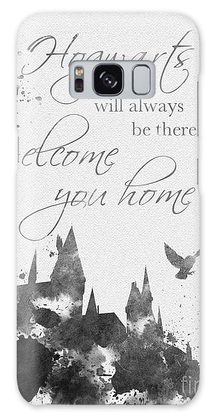 Hogwarts Quote Black And White Galaxy Case