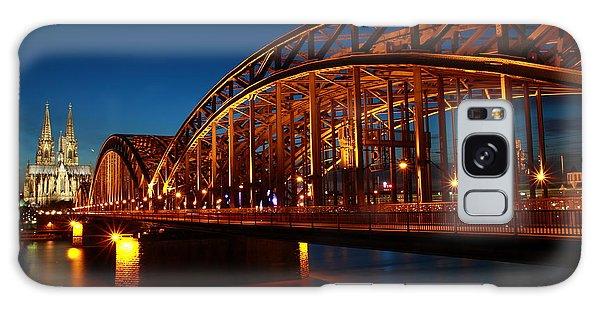 Hohenzollern Bridge Galaxy Case by Mihai Andritoiu