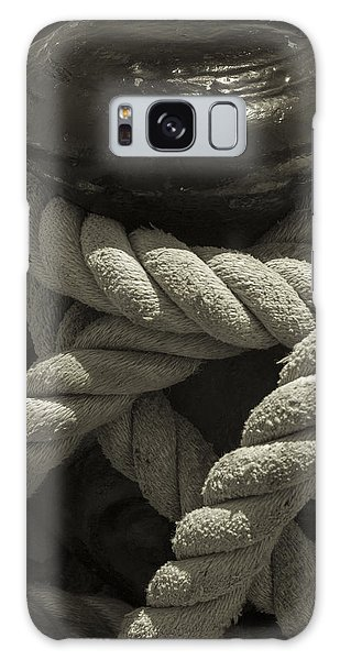 Hold On Black And White Sepia Galaxy Case