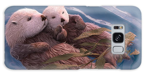 Otter Galaxy S8 Case - Holding Hands by Gary Hanna