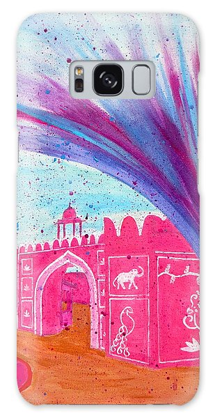 Holi In Jaipur India Galaxy Case