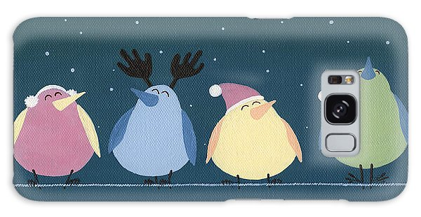 Holiday Birds Galaxy Case