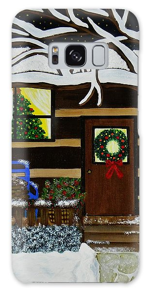 Holiday Cabin Galaxy Case by Celeste Manning