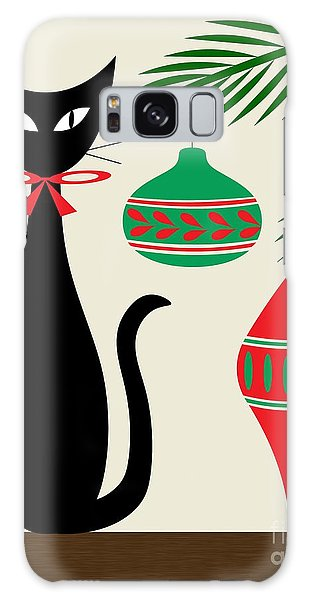 Holiday Cat On Cream Galaxy Case