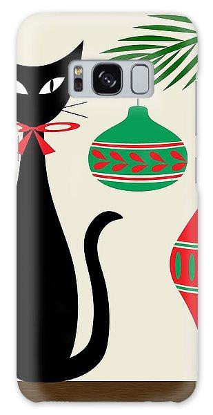 Holiday Cat On Cream Galaxy Case