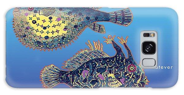 Holiday Fish Card Galaxy Case by David Klaboe