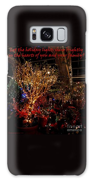 Holiday Lights Greeting Card Galaxy Case