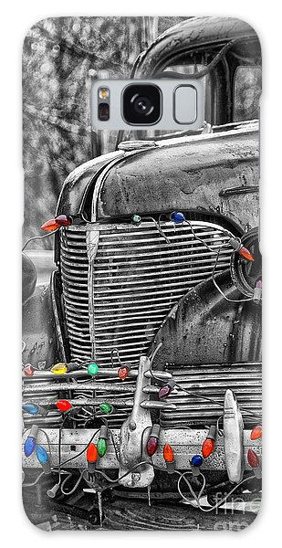 Holiday Lights On Old Truck Galaxy Case by Birgit Tyrrell